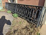 Vintage Mid Century Modern Wrought Iron Fence 55and039 Garden Architectural Railing