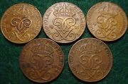 5 Different Dated 2 Ore Coins 19211925192719331935 Swedennice