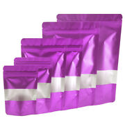 Matte Purple Standup Zip Seal Bag In With Frosted Window For Snacks Candy Chamoy