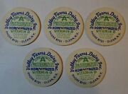 Lot Of 5 Vintage Milk Bottle Caps Valley Farms Olean Ny Nos 1 7/16 Pc-2