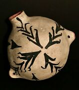 Historic Cochiti Pottery Bulbous Canteengreat Old Tagexcellent Original Condit