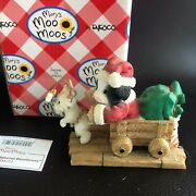 Enesco Maryand039s Moo Moos Cow Figurine Making A Special Deerlivery 548723 - Iob
