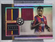 2021 Topps Museum Collection Uefa Ansu Fati Triple Jersey Tag Patch 19/75