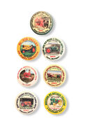 Lot Of 7 Tractor Engine And Machinery Association Pinback Buttons
