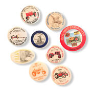 Lot Of 9 Power Tractor Various Pinback Buttons
