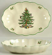 Spode Christmas Tree Dish-fluted/oval 8 11702541