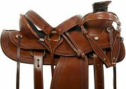 Youth Child Premium Western Leather Roping Ranch Miniature Pony Horse Saddle.