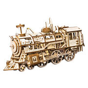 1pc Steam Locomotive 3d Wooden Puzzle Assembly Diy Jigsaw Home Decor Gifts