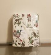 Pottery Barn Forest Gnome Organic Cotton Sheet Set King Christmas Sold Out