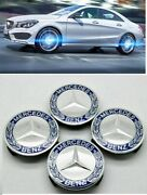 Fit Mercedes-benz 75mm Floating Led Illuminated Wheel Caps Lighting Center Cover