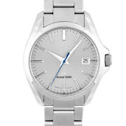 Grand Sbgx085 9f62-0ag0 Ss38mm Grey Dial Secondhand Mens Wristwatch Head Office