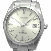 Mens Secondhand Grand Quartz Qz Date Silver Dial Sbgx063 9f62-0ab0 Gs