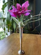 """Vintage Sterling Silver Bud Vase - Reed And Barton - 6"""" Tall"""