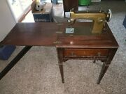 1940's New Home Sewing Machine With Cabinet