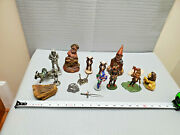 Vintage Mixed Lot Of Various Figurine Include Tom Clark And Rare Rock Specimen