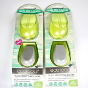 Ecotools Travel Perfecting Blender With Travel Case And Makeup Sponge Lot Of 2