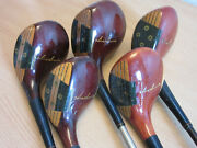 5pc Vintage Hiro Honma M-43 High Powered Gold Clubs 1 Driver 3 4 5 7 Woods