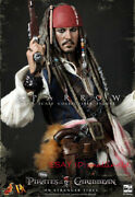 1/6 Hot Toys Captain Jack Sparrow Pirates Of The Caribbean Figure Dx06 Stock New