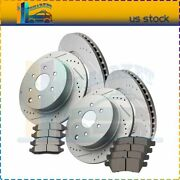 For Nissan Pathfinder 4.0l V64x Brake Rotor + 8x Ceramic Pads Drill And Slot
