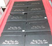 1997 S Silver Proof Set 10 Sets U.s. Mint Box And Coa Investment Wholesale