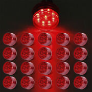 20x Red 2 Round Clearance Side Marker Lights Fit Trailer Truck Rv Boat 9led 12v