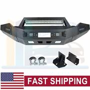 Offroad Front Bumper Guard With Lights Winch Plate For 2013-2018 Dodge Ram 1500