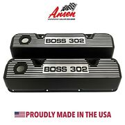 Ford Boss 302 Valve Covers Black - 351 Cleveland Version 2 - Ansen Usa