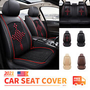 Upgrade 5-sits Car Seat Covers Leather Universal Full Set For Suv Truck Sedan
