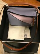 Loewe Puzzle Bag Small Blueberry/kaolin