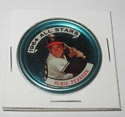 1964 Topps Baseball Coin Pin 132 Albie Pearson Los Angeles Angels All Star V1