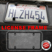 Black Silm Carbon Fiber License Plate Frame Holder Clear Cover Fit Acura Combo