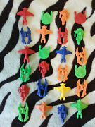 Lot Of 24 Hard Plastic 1.5 Spaceships Gumball Vending Machine Toys Prizes - 24a