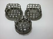 Lot Of 3 Antique Metal Wire Flower Frog Cages. Floral Displays