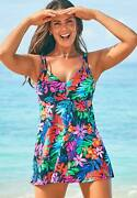 Swimsuits For All Womenand039s Plus Size Loop Strap Two-piece Swimdress