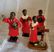 Vintage-african American Religious/church Figurines-red Robes