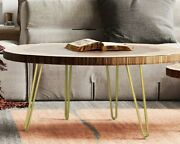 10 Hairpin Table ,ottoman Legs Antique Gold Set Of 4 Fast Shipping