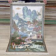 Yilong 2and039x4and039 Ancient Tapestry Hign Density 550line Handmade Carpet Silk Rug 005h