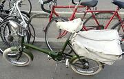 Rare 1960s England Raleigh Rsw Folding Bicycle 16 Tires + Rare Rear Pannier Bag