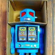 Tin Toy Meteor Genie Tin Robot Vintage Space Evil Robot Battery Operated Japan