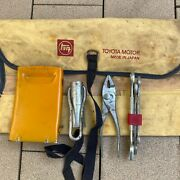 Toyota Motor Vintage Teq Tool Kit Roll Up Bag Wrench 1960s 1970s Incomplete