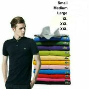 2021 Menand039s Vintage Lacost L1212 T Shirt Short Sleeve Polo Slim Fit T-shirt S-3xl