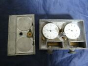 Rare Antique 1902 E.buysse Pigeon Flying Timer Racing Clock In Metal Case