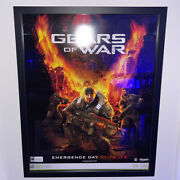 Gears Of War Xbox 360 Official 1st Edition Cardboard Poster Epic Games 2006