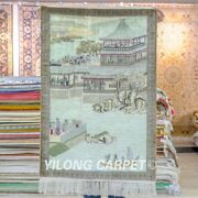 Yilong 2'x3' Handwoven Carpets Silk High Density Vintage Tapestry Area Rug 058h