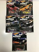 Hot Wheels Fast And Furious Real Riders Set Of 5 Gbw75