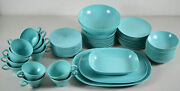 Texas Ware Melamine Turquoise Aqua Blue Vintage Set 67 Pieces