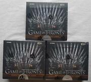 3x Game Of Thrones Season Eight 8 Trading Cards Box 2020 Limited