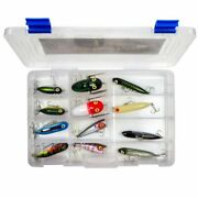 Lot 12 Heddon And Rebel Topwater Assortment - 12 Lures In Box - New