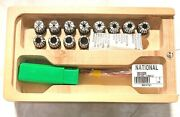 12pc Er20 Mini Collet Chuck Set Straight Shank Collets Included 1/16andrdquo To 1/2andrdquo