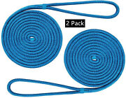 1/2 Inch15ft Double Braid Nylon Dockline Mooring Rope Double Braided Rope(2pcs)